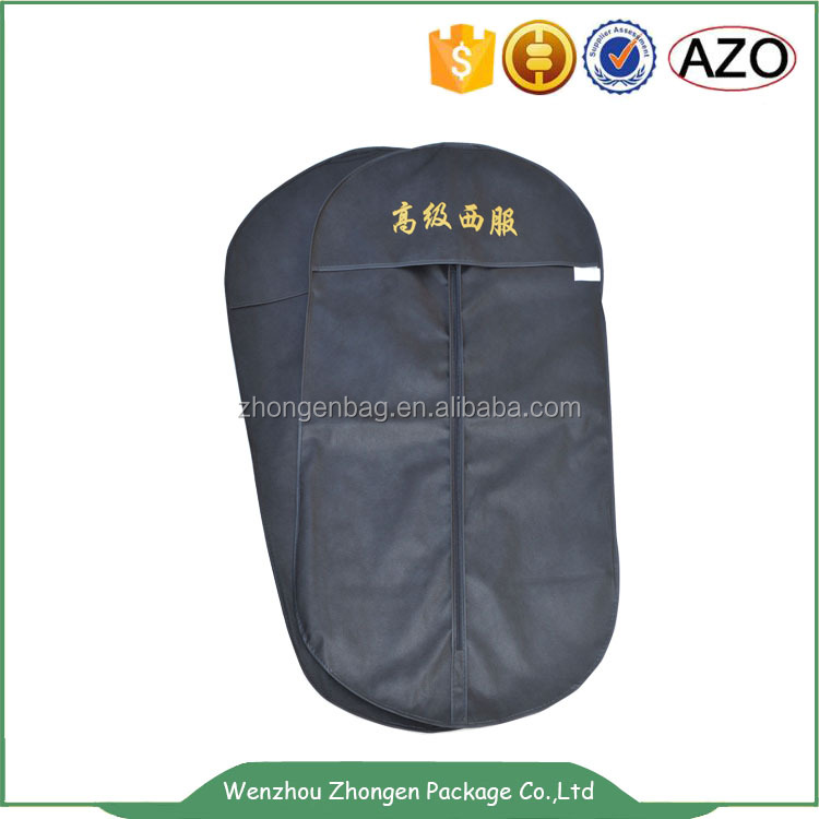 CHINA suppliers customized zipper non woven suit cover dust proof bag
