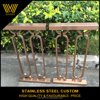 professional custom high end Morden stainless steel indoor baluster / metal handrail / guardrail