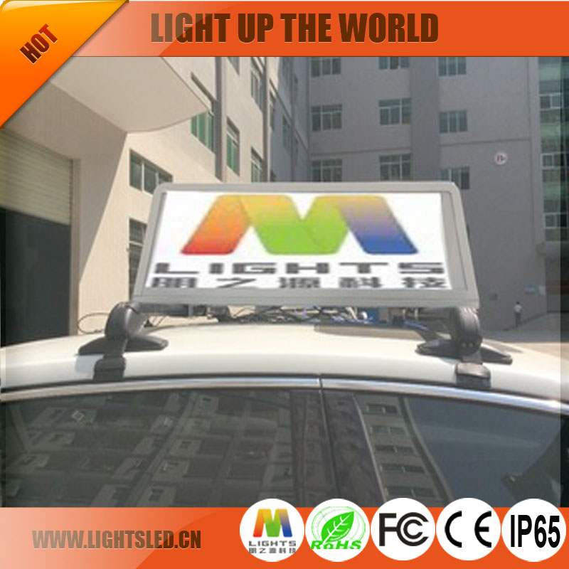 P5 two sides taxi roof led advertising board scrolling messages customized digital poster wireless control