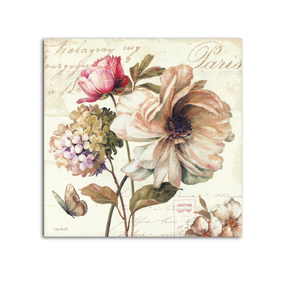 Home wall decoration flower vintage plaque