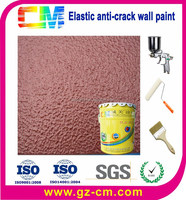Indoor outdoor anti cracking wall decorative elastic paint