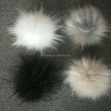 15cm fake raccoon fur ball pom women hat sex pompom for hat