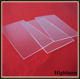 clear rectangle fused silica glass window/quartz plate