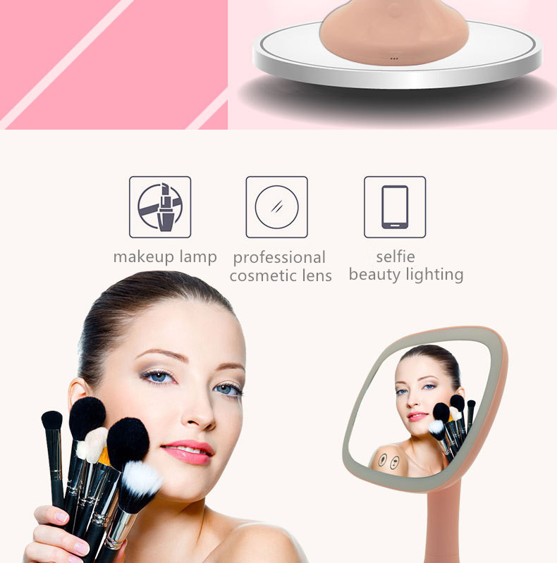 China Manufacturer Personalized Portable Smart Folded Lady Music Cosmetic Mirror