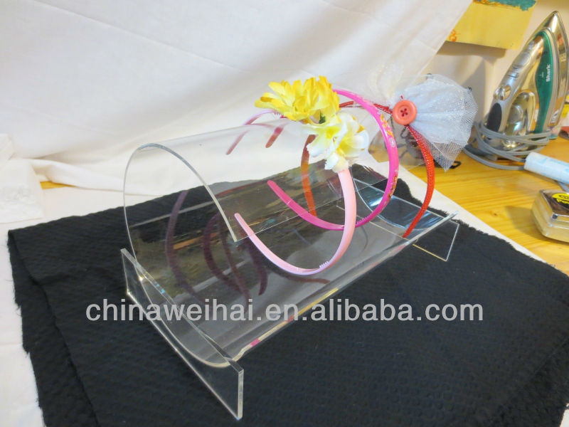 Clear Acrylic Headband Display Rack