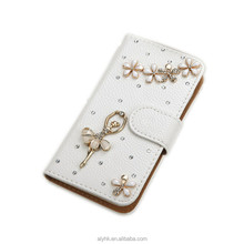 Diamond Bling Leather Flip Wallet Case Cover For Samsung A7 2017 Luxury Phone Case