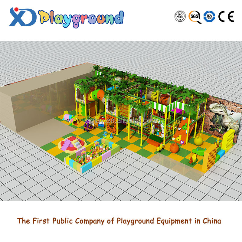 Jungle theme attractive design indoor playground equipment