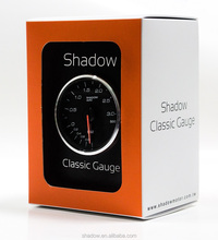 SHADOW CLASSIC Black Boost Vacuum 60mm Racing Gauge