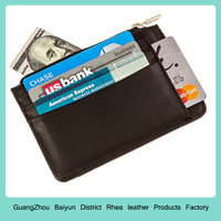 Stylish Leather Credit Card Holder Slim RFID Blocking Wallets For Men