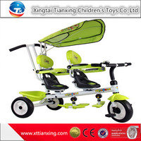 Wholesale high quality best price hot sale child tricycle/kids tricycle/baby tricycle two seats ride on toy for twins