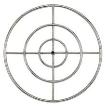 "30"" Stainless Steel Round Fire Pit Burner Ring Triple Ring"