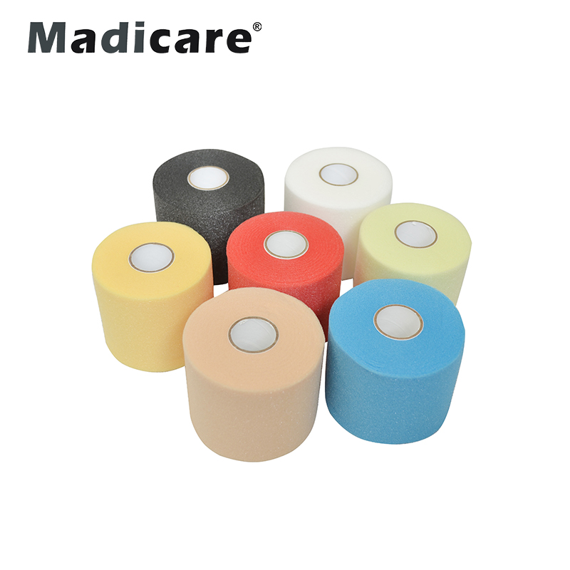 7cm*27m pre-tape foam Sport Under Wrap Skin Foam Tape under wrap pre-wrap foam bandage For Protection