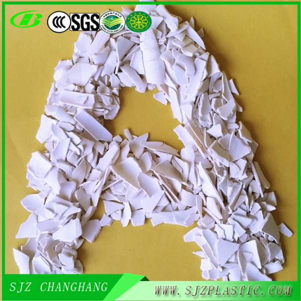 Factory Supply! Post Industrial PVC <strong>Scrap</strong> white color for Sale!