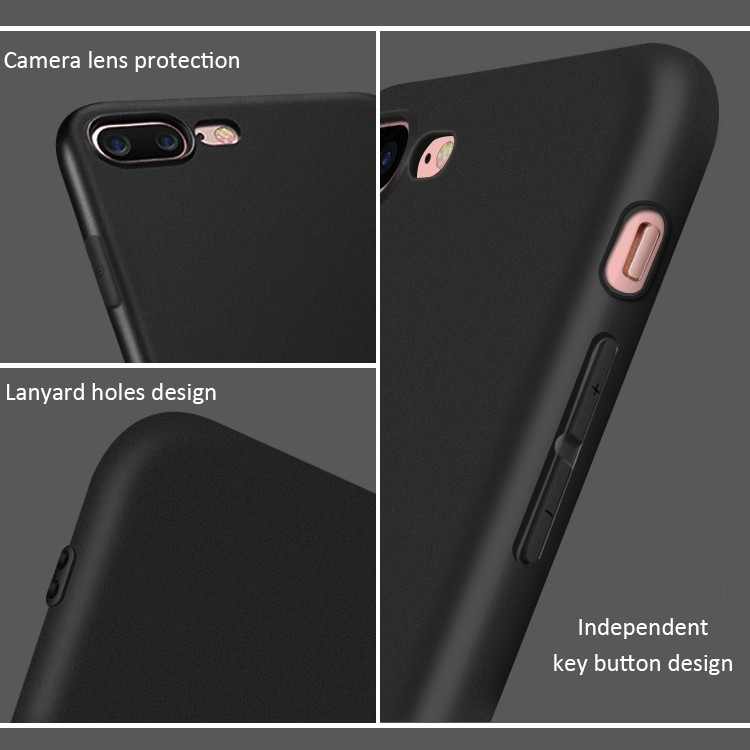 DFIFAN 2017 Stylish Matte Black case for iphone 8plus , Amazon hot sale Case for apple iphone 7 plus wholesale