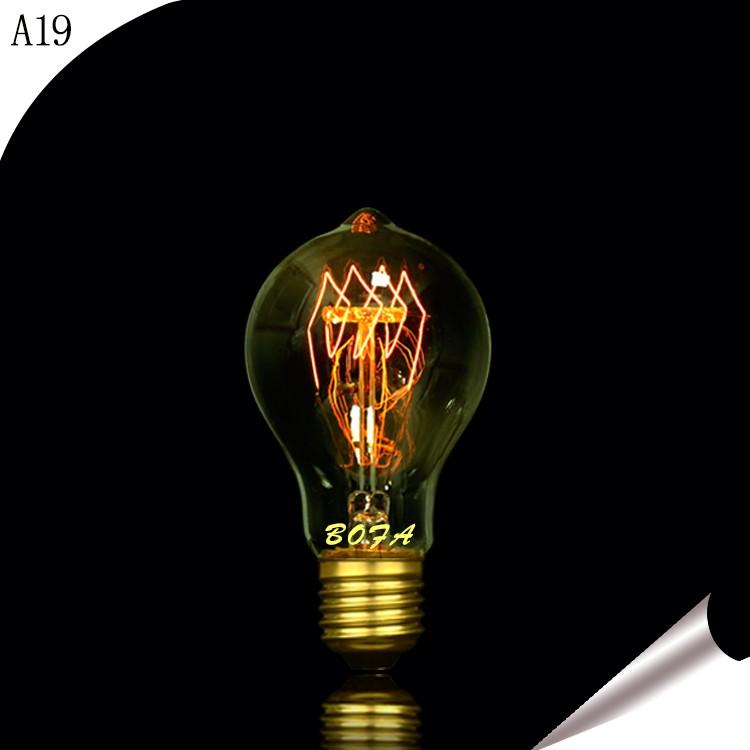 Edison Vintage 110v E26 E27 A19 A60 40w 60w Equivalent: 25w 40w 60w 75w 100w A19 A60 Victorian 2 Anchors Antique