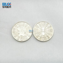 Cheap custom gaming token coins hot selling sliver cartoon tokens