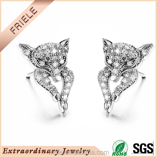 ladies sex with animals 925 sterling silver stud earring wholesale jewelry