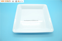"18"" Plastic Crystal Clear Square Tray"