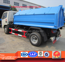 100% brand new dongfeng hook lift garbage truck, 4ton hook lift rubbish truck for sale