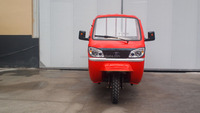 Chinese semi closed cabin adult cargo three wheel motorcycle