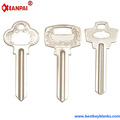F379 Replacement Kinds of Brass Nickel Painted Blank House key Suppliers