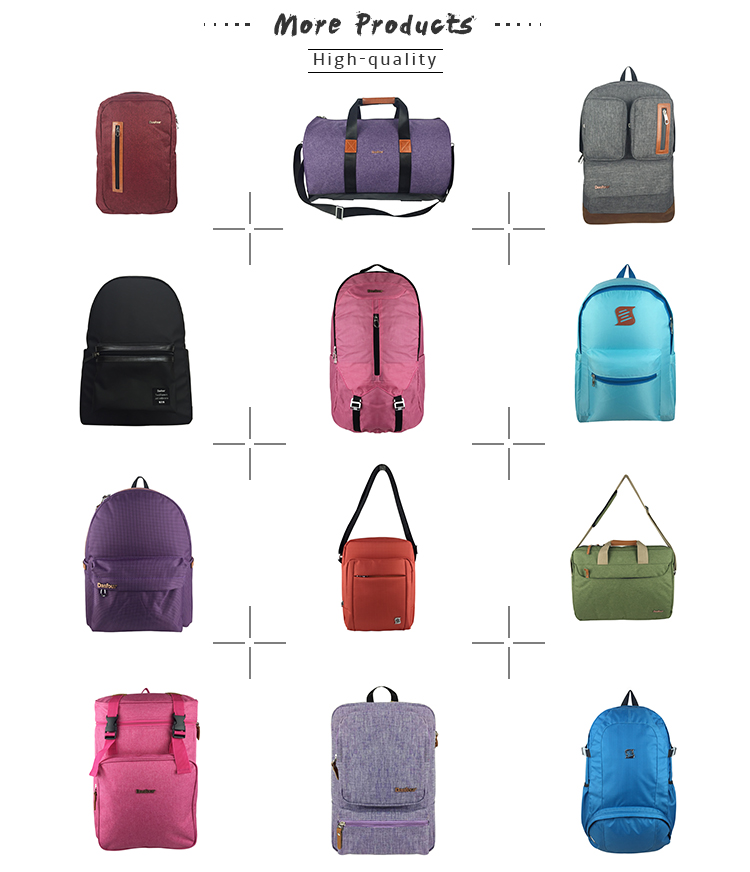 High quality 600D canvas fabric PU multi function ladies rucksack backpack