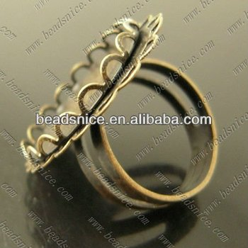 beadsnice 13937 fashion jewelrytrillion ring settings findings jewelry