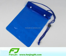 Customized big waterproof tablet case with neck rope