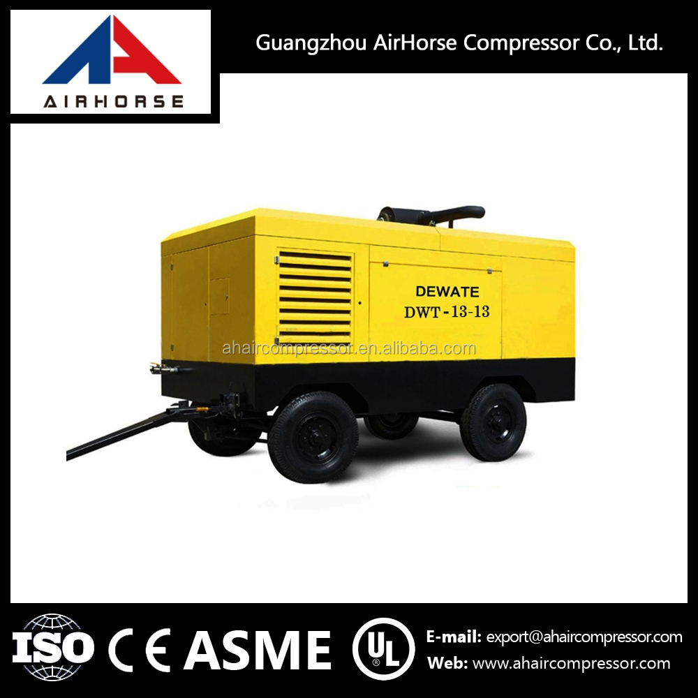 Air compressor/Commins diesel engine Portable 10 bar Screw Air Compressor for drilling rig