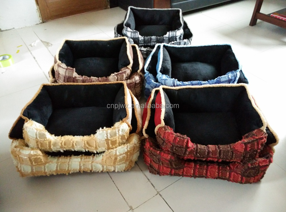2017 Fashion Plaid pet beds forcute dog and cat