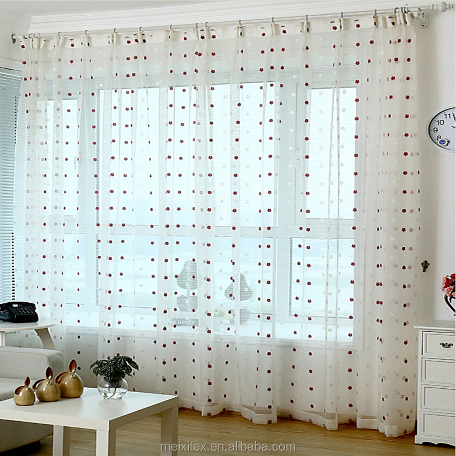 dot jacquard sheer organza curtain fabrics,Colored lace curtains sheer jacquard fabric curtain