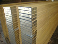 Radiate Pine lvl scaffold plank with steel cap for construction