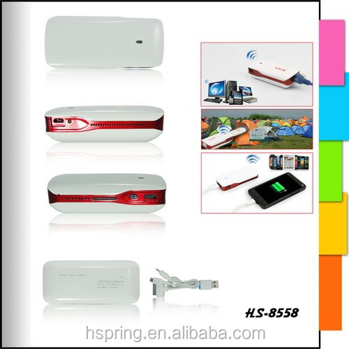 Hot Sell Promotional Full Color mobile power 3g wifi router