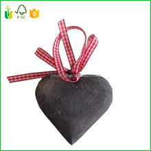 Christmas Tree Decorative Wooden Heart Shape Craft Tags Plaques