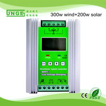 500w-24v mppt wind/solar hybrid street light charge controller 12v 24v 300w wind+200w solar panel