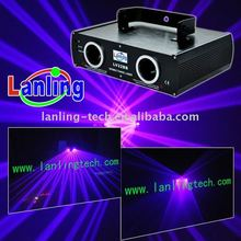 100mW+100mW Purple Double Lens Laser show system Stage DJ Light DMX512 DISCO Bar