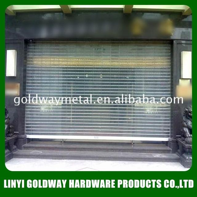 China cheap transparent roller shutter window made in