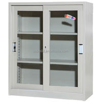 Glass Double Door Locker File Bookcase Office Furniture