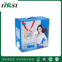 Corrugated Paper Shipping Box With Plastic Handle Corrugated Carton for Milk Packaging/New Design Custom Food Corrugated Box