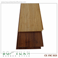 distressed chocolate color strand woven timber bamboo flooring
