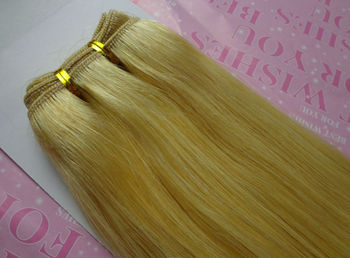 613 blonde human hair weave
