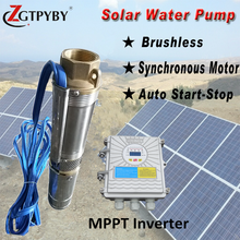 factory price ac/dc solar submersible pump solar borehole water pump for farm irrigation