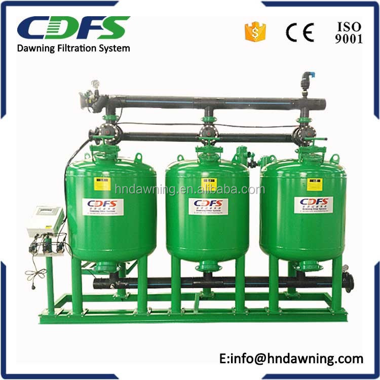 Automatic backflush sand gravel stainer for irrigation