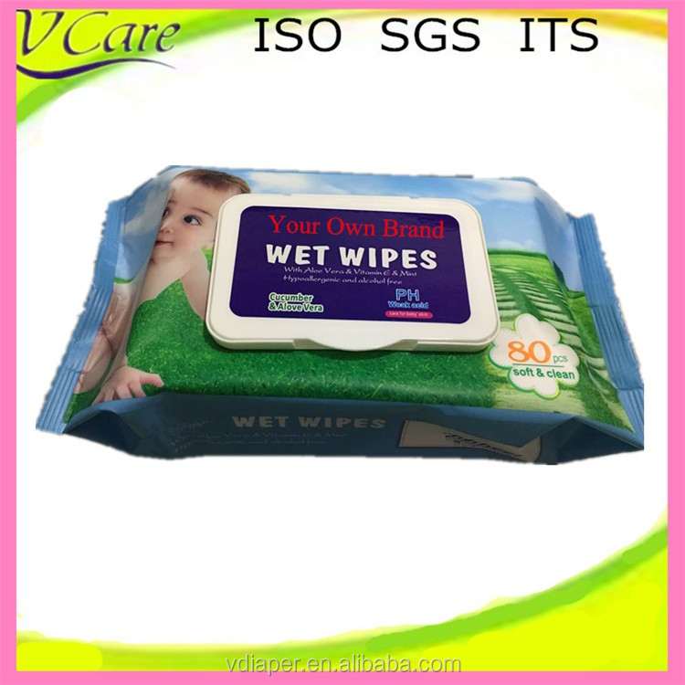 2017 Hot Sell Disposable Alcohol Free Baby Wet Wipes