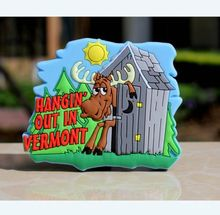 TOURIST SOUVENIR Hangin' Out In Vermont USA Rubber FRIDGE MAGNET,Wholesale and retail cheap refrigerator magnets ---DH21044