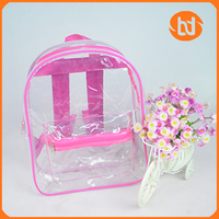 PVC Transparent waterproof school bag for children