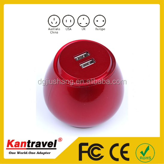 High quality business gift itemes corporate au us uk eu plugs usb travel adapter from sockets supplier