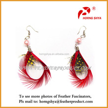 Fashion Goose Feather Earrings For Party