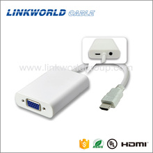 Linkworld Full 1080P audio hdmi to vga converter cable