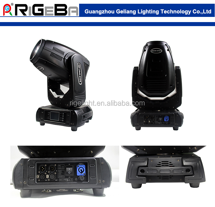 2017 best selling stage lighting high power 280W beam,wash,spot 3in 1 Moving Head Light